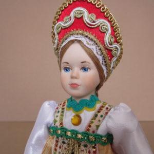 Кукла Девочка в русском народном костюме и кокошнике