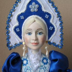 Кукла на чайник Гжель