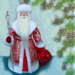 Кукла Дед Мороз под ёлку