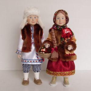 Куклы Васенька и Дашенька