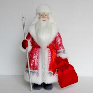 Кукла Дед Мороз в ушанке
