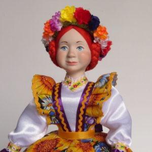 Кукла на чайник Подсолнухи