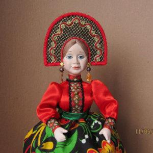 Кукла на чайник Хохлома