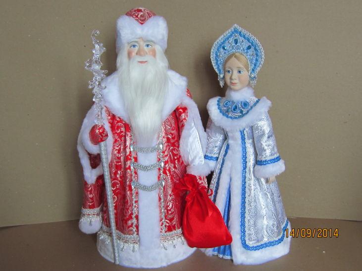 Кукла деда мороза и снегурочки своими руками