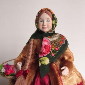 Кукла на чайник Дуняша