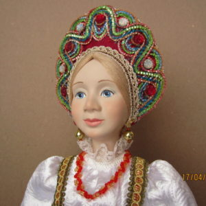 Интерьерная кукла Варвара-краса.