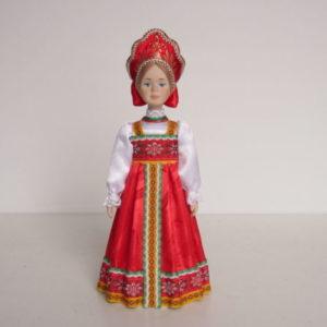Кукла Полюшка в русском костюме