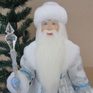 Кукла Дед Мороз Серебряный