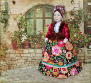 Кукла на чайник Серафима