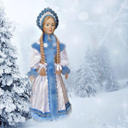 снегурочка с голубым мехом