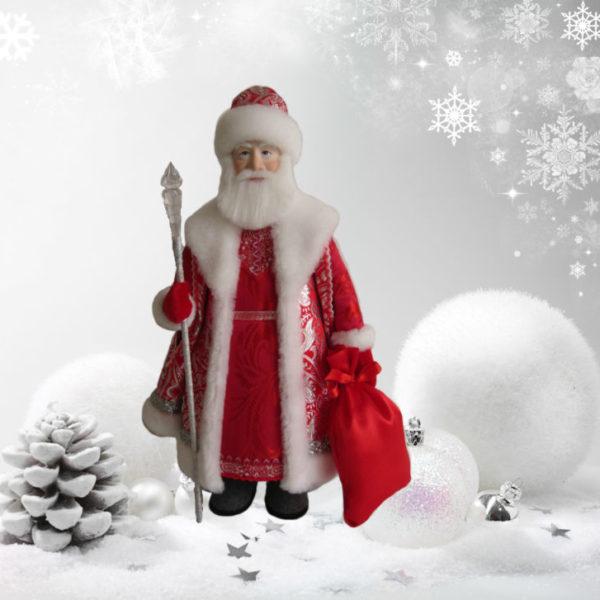 дед мороз в валенках- новая новогодняя кукла