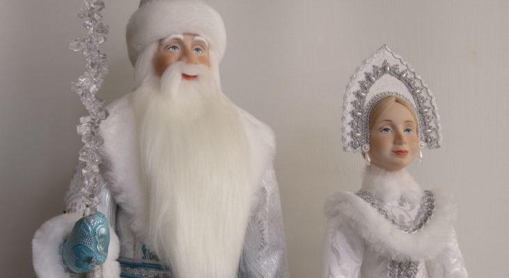 Дед Мороз Праздничный 60 см и Снегурочка 50 см